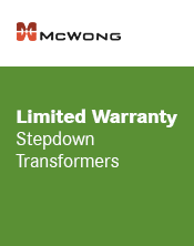 McWong Stepdown Transformers Warranty